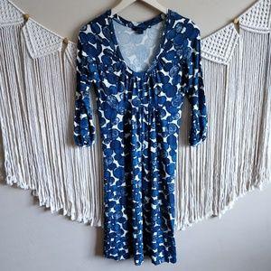 Boden Blue White Painted Polka Dot Midi Dress 12